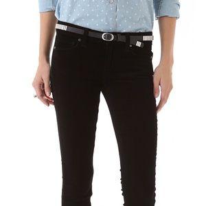 Paige Mid Rise Verdugo Ultra Skinny Black Jeans 29